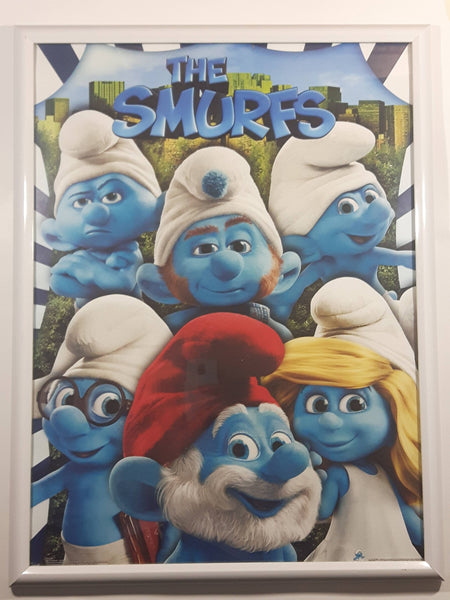 "2011 Peyo The Smurfs Movie 18"" x 24"" Framed Poster"