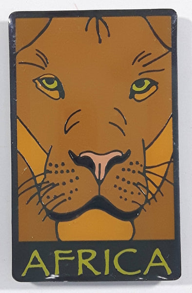 Africa Lion Themed Gloss Metal Fridge Magnet