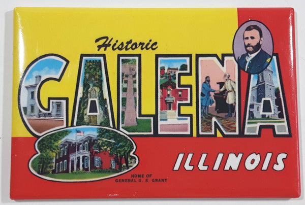 "Historic Galena, Illinois ""Home of General U. S. Grant"" Fridge Magnet"
