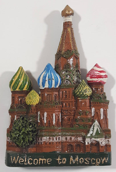 Welcome To Moscow Kremlin Themed Resin Fridge Magnet