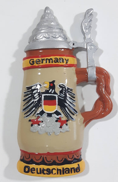 Germany Deutschland Lidded Beer Stein Shaped Resin Fridge Magnet