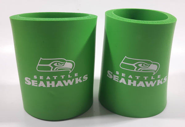 Seattle Seahawks NFL Football Team Foam Beer Holder Koozie Set of 2