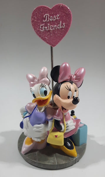 "Disney Theme Parks Authentic Original Daisy Duck and Minnie Mouse Best Friends 5"" Tall Detailed Resin Sculpture"