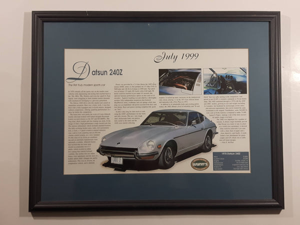 1999 Wynn's (1939-1999) 1970 Datsun 240Z Framed Commemorative Advertisement