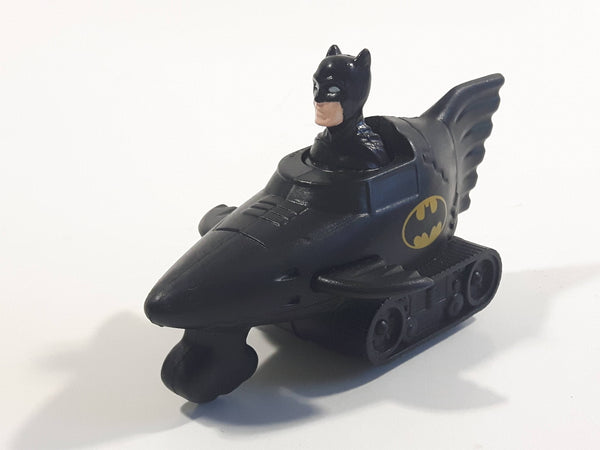 1991 DC Comics Batman Batmobile Push Down Spring Release Black Plastic Toy Car Vehicle - McDonald's Happy Meal