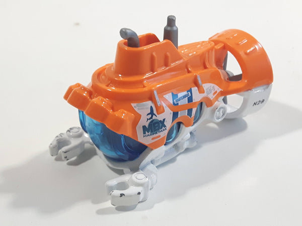 2020 Matchbox MBX Marine Rescue Deep Diver Orange and White Die Cast Toy Submersible Vehicle