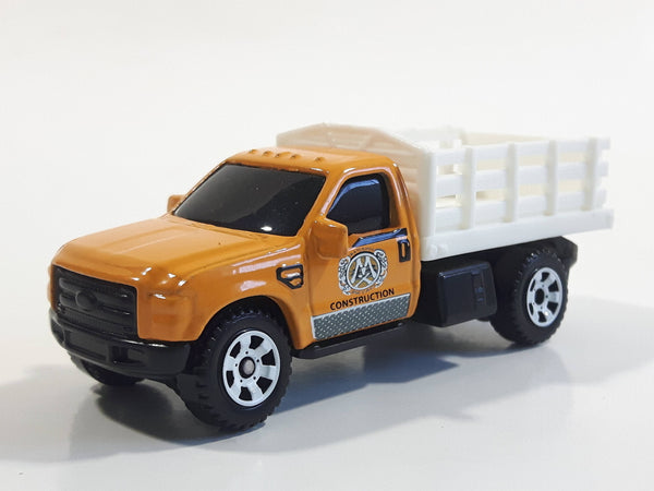 2014 Matchbox MBX Construction Ford F-350 Truck Orange Yellow Die Cast Toy Car Vehicle
