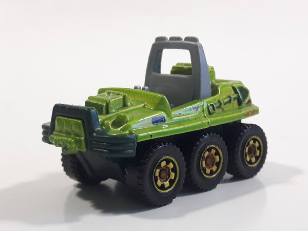 2015 Matchbox Jungle Mission ATV 6x6 Metalflake Green Die Cast Toy Car Vehicle