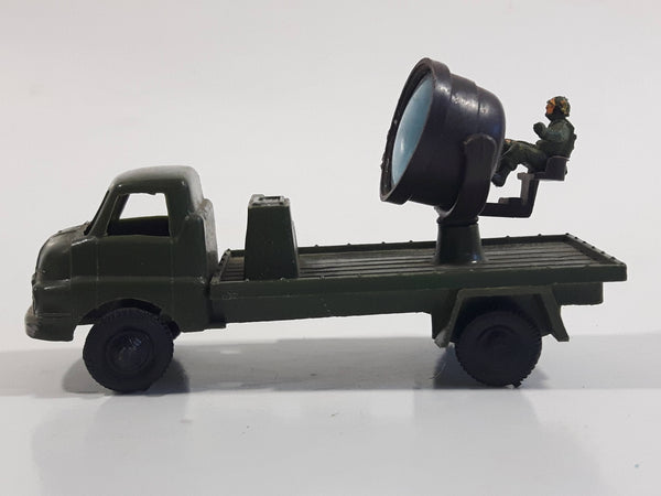 Vintage Blue-Box Toys Military Spotlight Truck Army Green Plastic Die Cast Toy Car Vehicle