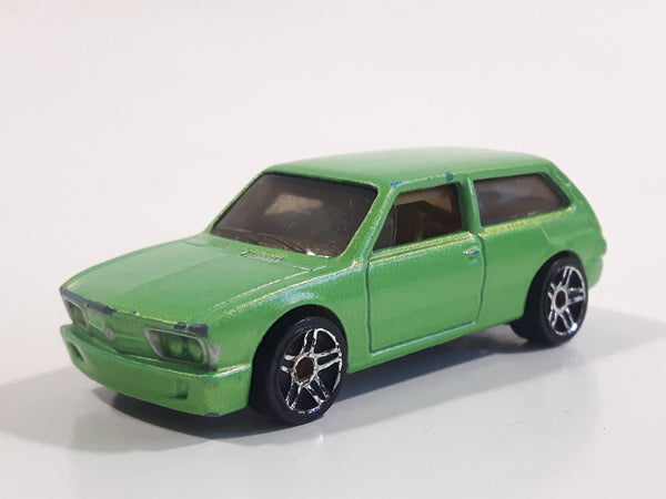 2011 Hot Wheels Volkswagen Brasilia Green Die Cast Toy Car Vehicle