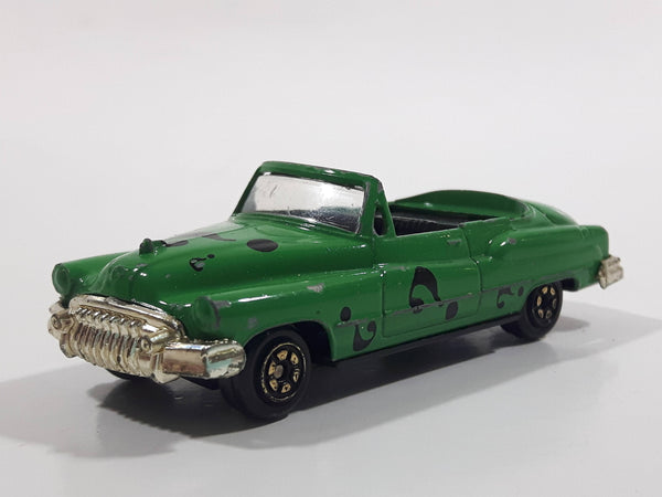 1995 Yatming #8904 Hasbro DC Comics Batman Forever Movie The Riddler 1953 Buick Roadmaster Convertible Classic Car Green Die Cast Toy Vehicle