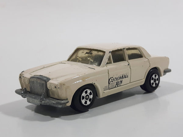 Vintage 1981 ERTL Rolls Royce Silver Shadow Cream White Die Cast Toy Car Vehicle Made in Hong Kong