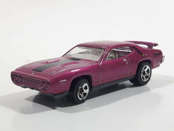 2012 Hot Wheels '71 Plymouth Road Runner Magenta Die Cast Toy Muscle Car Vehicle