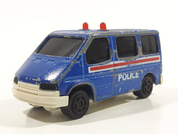 Majorette Sonic Flashers No. 243 Ford Transit Van Police Blue 1/60 Scale Die Cast Toy Car Vehicle