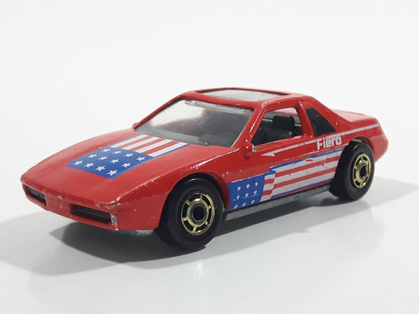 1987 Hot Wheels The Hot Ones Pontiac Fiero 2M4 Red Die Cast Toy Sports Car Vehicle - GHO