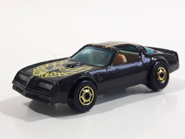 Rare Vintage 1982 Hot Wheels Hot Ones Hot Bird Black Yellow Die Cast Toy Car Vehicle - Gold Wheels
