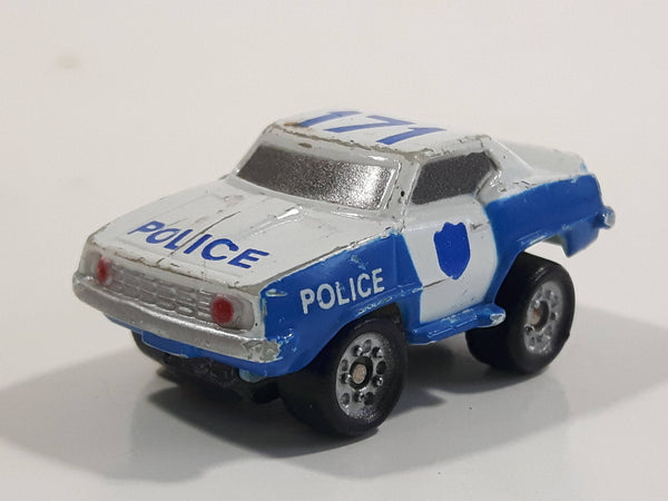 Micro Machines '69 Chevy Camaro Police 171 White Miniature Die Cast Toy Car Vehicle