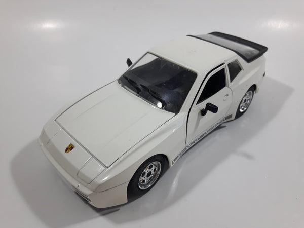 Majorette Porsche 944 Turbo 1:24 Scale White Die Cast Toy Car Vehicle with Opening Doors, Hood, and Hatch