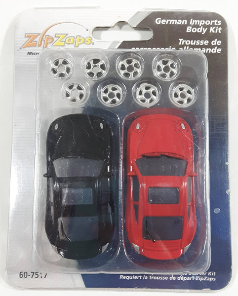 Radio Shack Zip Zaps Micro RC German Imports Body Kit Porsche 911 Black and Red with Rims New In Package