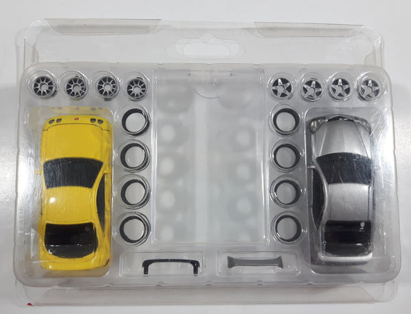 Rare Radio Shack Zip Zaps Micro RC Super Street Body Kit Acura Integra Type R Yellow and Acura RSX Silver with Rims and Tires Previously Opened