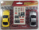 Rare Radio Shack Zip Zaps Micro RC Super Street Body Kit Acura Integra Type R Yellow and Acura RSX Silver with Rims, Tires, and Stickers New in Package