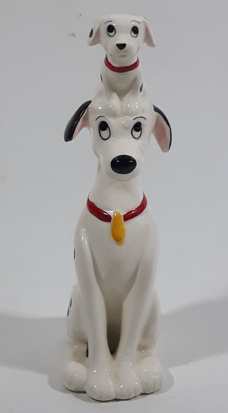 "Vintage Schmid 101 Dalmatians Pongo with Puppy On His Head 4 3/4"" Tall Ceramic Porcelain Figurine Ornament"