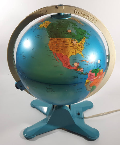 Vintage Fisher Price Light Up Illuminated Discovery Globe