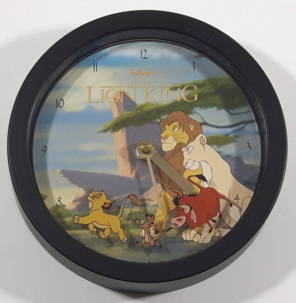 "Disney's The Lion King 6"" Diameter Wall Clock with Character Hands Simba, Timon, and Pumbaa"
