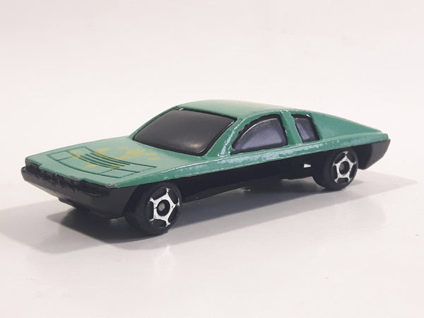 Unknown Brand #55 Teal Green Die Cast Toy Car Vehicle Busted Base