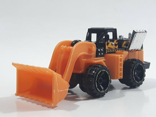 2013 Hot Wheels HW City City Works CAT Wheel Loader Orange and Black Die Cast Toy Construction Vehicle