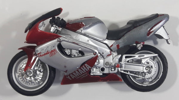 Maisto Yamaha Thunderace 1000 Motor Cycle Dark Red and Grey 1:18 Scale Die Cast Toy Vehicle