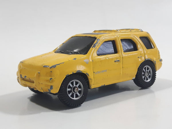 Maisto Ford Escape Yellow Die Cast Toy Car Vehicle