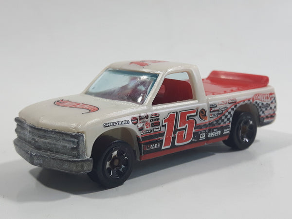 2011 Hot Wheels Track Stars 1996 Chevy 1500 Truck Light Cream Brown Die Cast Toy Racing Car Vehicle