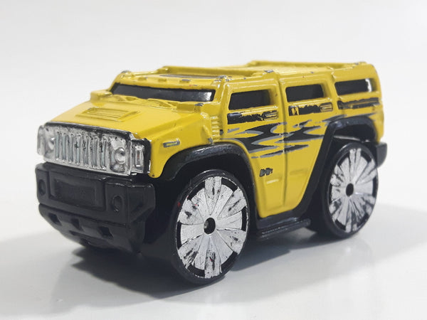 2004 Hot Wheels First Editions Blings Hummer H2 Yellow Die Cast Toy Car Vehicle
