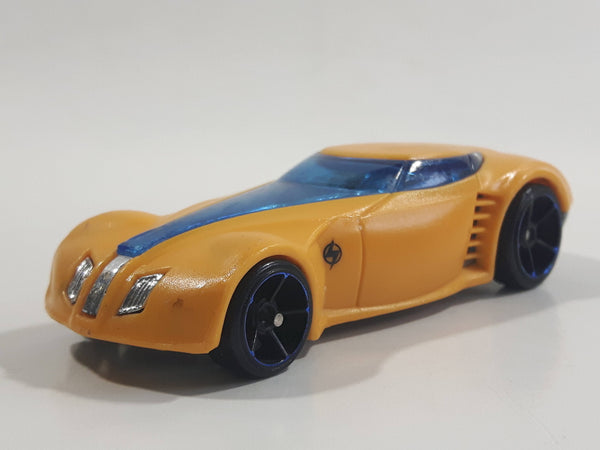 2012 Hot Wheels Light Speeders Covelight Yellow Die Cast Toy Car Vehicle