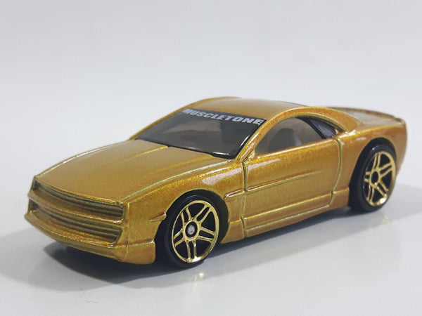 2002 Hot Wheels Spectraflame 2 Muscle Tone Metalflake Gold Die Cast Toy Car Vehicle