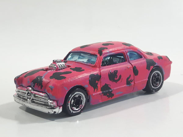 2001 Hot Wheels Shoe Box Rat Rods Light Purple Painted Pink with Black Spots Die Cast Toy Car Vehicle