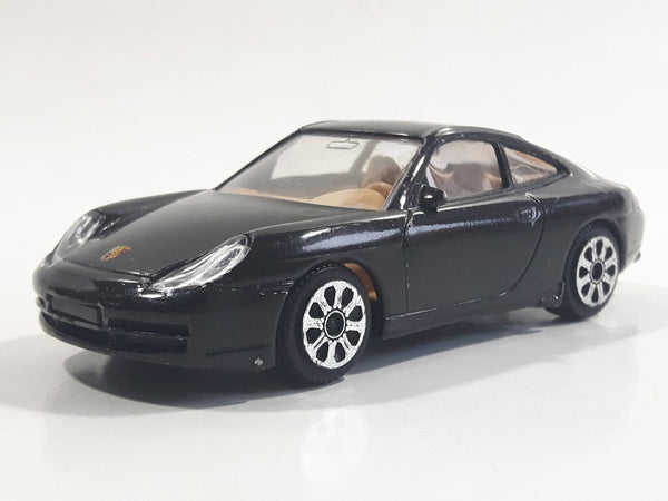 Burago Porsche 911 Carrera Black 1/43 Scale Die Cast Toy Car Vehicle - Made in Italy