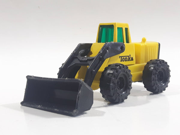 1992 Tonka Front End Loader Yellow Die Cast Toy Car Construction Equipment Vehicle - McDonald's Happy Meal
