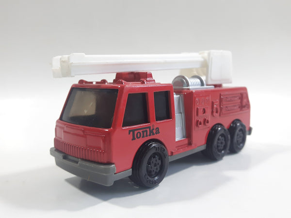 1992 Tonka Fire Ladder Truck Red Die Cast Toy Car Construction Equipment Vehicle - McDonald's Happy Meal