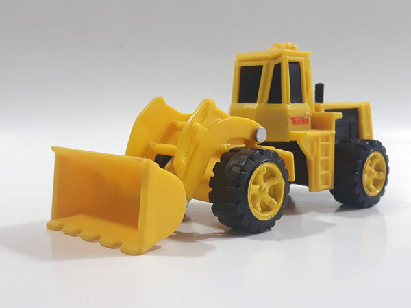 1990 Tonka Front End Loader Yellow Plastic Die Cast Toy Car Construction Equipment Vehicle