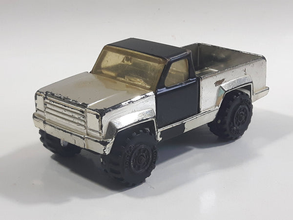 Vintage 1978 Tonka Pickup Truck Chrome and Black Pressed Steel Die Cast Toy Car Construction Equipment Vehicle - Made in U.S.A.