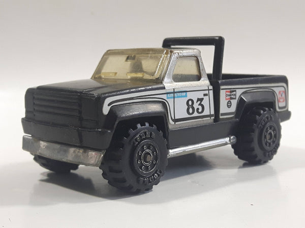 Vintage 1978 Tonka Pickup Truck Black and Silver Pressed Steel Die Cast Toy Car Construction Equipment Vehicle - Made in Mexico