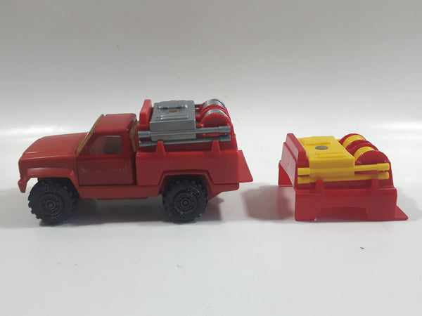 Vintage 1978 Tonka Pickup Truck Fire Fighting Red Pressed Steel Die Cast Toy Car Construction Equipment Vehicle - Made in Mexico