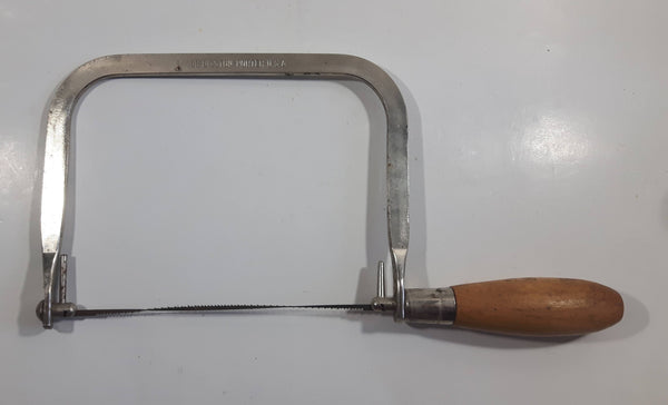 Vintage Disston-Porter No. 10B Coping Saw with Wooden Handle Made in U.S.A.