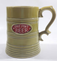 Vintage One Pint Beer Green Ceramic Beer Stein Made in Japan