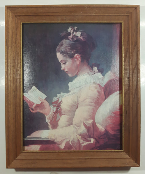 "Fine Art Prints By Gellman No. 416 ""A Young Girl Reading"" By Jeane-Honore-Fragonard 11"" x 14"" Wood Framed Painting Print"