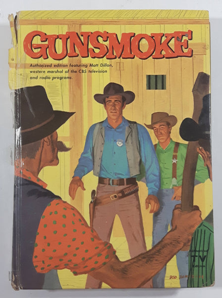 Vintage 1958 Columbia Broadcasting System Gunsmoke Authorized TV Edition featuring Matt Dillon Paper Cover Book By Robert Turner