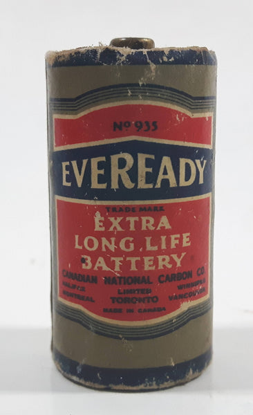 Antique 1944 Feb. Vintage Eveready Extra Long Life Battery No. 935 Size C