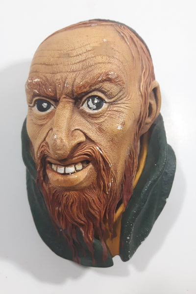 Vintage 1964 Bossons England Fagin Chalkware 3D Face Head Wall Decor
